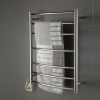 Buy cheap 7 bars round arc type stainless steel wall mounted pratical safety heated towel rack product