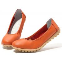 Buy cheap New low-heeled leather women's shoes flat gum-rubber outsole women's shoes product