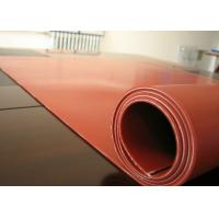 Quality Dark Red Heat Resistant Silicone Rubber Sheet Rolls Reinforced To Insert 1PLY Fabric for sale