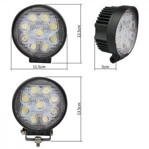 Buy cheap 27W Round Spot LED Work Light Driving Fog Light IP67 thicker profile 11.5*11.5*5cm 10-30V 9LEDS product