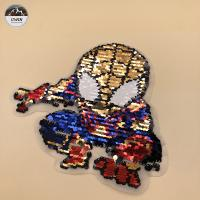 Eco Friendly Material Embroidery Designs Patches With Flip / Flat / Printing