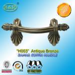 Buy cheap Ref No H003 zamak Metal Coffin Handles size 22.5*10.5 Shell shape color antique bronze and antique copper product
