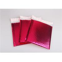 Buy cheap Rose Pink Metallic Mailing Envelopes , Colored Bubble Mailers For Transport product