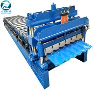 Buy cheap Hydraulic Cutting Glazed Tile Roll Forming Machine With 14 Roller Station product