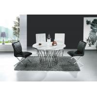 Buy cheap Modern Glass with Stainless Steel Frame Dinning Set Furniture for Dinning Room Wholesale product