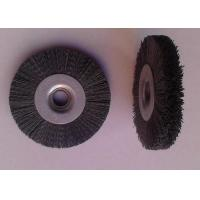 Buy cheap 100 Mm OD Round Abrasive Nylon Bristle Brushes 55mm Middle Plate 10mm Face Width product