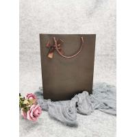 Buy cheap Dots Pattern  Brown Personalized Paper Wine Bottle Gift Bags Shiny Foil Gold Color product