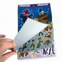 Buy cheap Sponge Bubble Stickers with Six Pages Adhesive Label, Measures 22.6x 14cm product