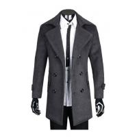 Buy cheap Long Sleeve Winter Outerwear , Grey Wool Hunting Jacket with Comfortable Fabric for Man product