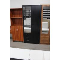 Foldable Doors Marine Plywood Wardrobe / Open - Shelves Wooden Cloth Cabinet