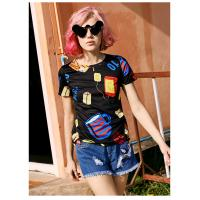 Buy cheap Women's Fashion New Latest Design High Quality  Short Sleeve T Shirt with Full Printed product