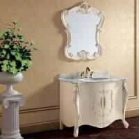 Buy cheap Floor Standing Wood Antique White Bathroom Furniture product