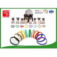 Buy cheap Puppy Id Collars Thin Hook And Loop hook and loop Straps For Dog Pet , Color Distinguish product