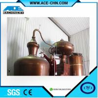 China Copper Alcohol Distillation Equipment System For Sale & Copper Whiskey Still Equipment For Sale on sale