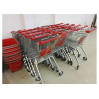 Buy cheap Grocery Store Wire Shopping Trolley Metal Retail Carts 60L With Zinc Plated from Wholesalers
