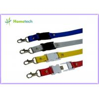 Buy cheap Engraved Custom Lanyard Novelty USB Flash Drives , Micro USB Flash Drive product