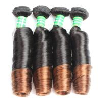 Buy cheap Wholesale 7A grade Ombre Color Spring Curl Brazilian Hair Extension from wholesalers