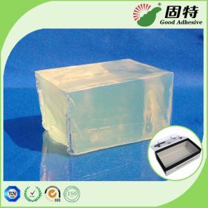 Buy cheap Gift Box PSA Pressure Sensitive Adhesive Packaging Strong Adhesive, Yellow and semi-transparent Block Hot melt adhesive product
