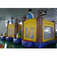 Buy cheap Outdoor Playground Pirate Inflatable Kids Jumping Castle Yellow And Blue from Wholesalers