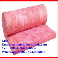 China Pink Glass wool roll with best price on sale