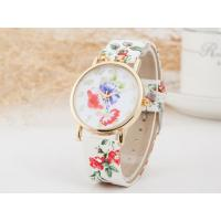 Buy cheap Fashion Trend Exquisite Geneva Ladies Floral Leather Watch Strap Watch product