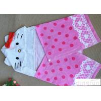 Cute Velour Full Reactive Hooded Poncho Towels For Toddlers 21s