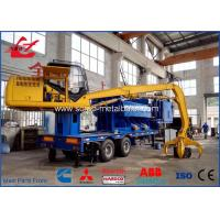 China Mixed Steel Scrap Baler Logger Mobile Type or Stainable Type Hydraulic Metal Compactor With Cummins Diesel Engine on sale
