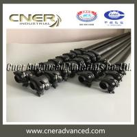 China 65ft High hardness carbon fiber telescopic pole with 3K glossy surface finish on sale