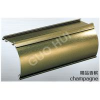 Buy cheap Brushed Finish Aluminium Channel Sections With 6063 Series Champagne Aluminum product