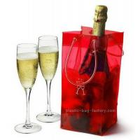 Buy cheap Anti-Freezing PVC Ice Cooler Bag Plastic Wine Cooler Bags Carrier with Handle product