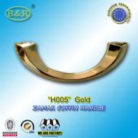 Buy cheap H005 gold color Italy design moon shape metal coffin handle zamak coffin accessories  size 20.5*7.5cm from Wholesalers