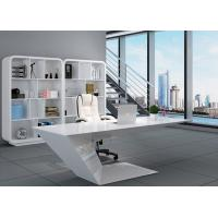 China Elegant Manager Office Furniture Creative Special Shape With White Baking Paint on sale