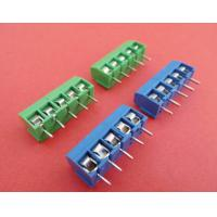 Buy cheap pcb terminal block 5.0mm pitch 300V 16A 2P 3P assembly to many Poles green or blue color product