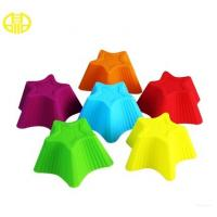 China Colorful Star Shape Silicone Cupcake Liners DIY Cake Mould Ice-Tray Mold on sale