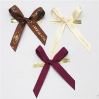 China Colored Small Ribbon Bows 100% Polyester Material Handmade Artworks on sale