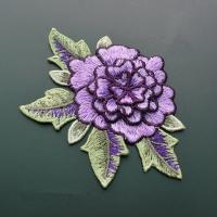 Buy cheap Polyester Embroidered Floral Appliques For Jackets 11 CM X 9 CM Multi Color Available product