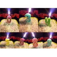 Buy cheap Rose Design 0 - 9 Number Birthday Candles For Birthday Party , Customized Color product