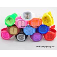 China Band new Cheap Stylish Jelly Silicone Watch with wholesale price on sale