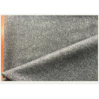 50% Wool Woven Gray Herringbone Fabric Anti Wind For Autumn Outfit / Jacket