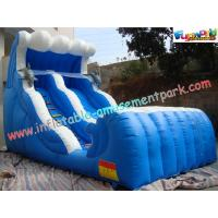 Large Inflatable Slides double lane made of 0.55mm PVC tarpaulin for rental, commercial