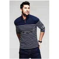 Buy cheap 2019 Men's New Latest Yarn Dyed Fashion Design High Quality Long Sleeve Polo Shirt product