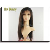 China Straight Remy Human Hair Lace Front Wigs Adjustable Straps No Tangling on sale