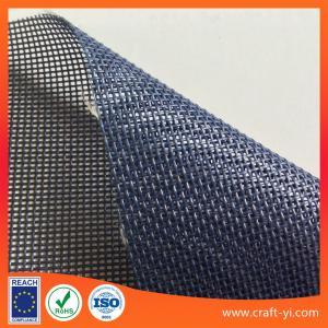 Buy cheap Textilene mesh PVC Coated Polyester fabric dark blue color 1x1 weave Textilene product