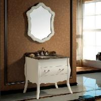 Buy cheap Unique Floor Mounted Bathroom Cabinet White Color (SS0901) product