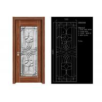 China Inteiror Door Architectural Decorative Glass , Clean Bevelled Glass Door Panels on sale