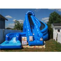 Buy cheap Giant Inflatable Corkscrew Water Slide / Double Inflatable Slip And Slide With Pool from wholesalers