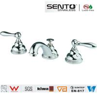 Buy cheap Classic style double handle water saving basin faucet for bathroom product