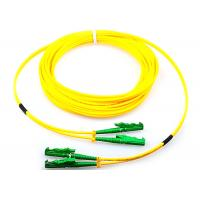 Single Mode Fiber Optic Patch Cord Duplex G652D 9 / 125 Yellow With E2000 Connector