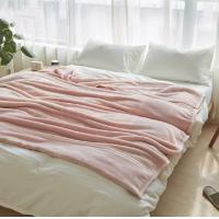 Buy cheap 100% Polyester Solid Flannel Blanket Bedding Blanket Full / Queen Size Plain Pattern product