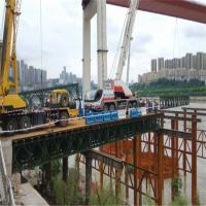 Standard Bailey Bridge Panel Q345B Steel Green Painted For Construction